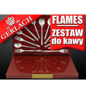 gerlach sztućce 03 flames zestaw do kawy 13 el
